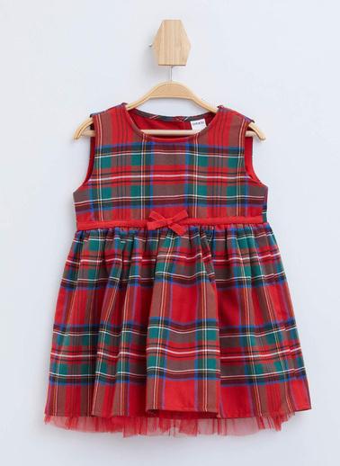 DeFacto Kız Bebek Ekose Kolsuz Elbise Kırmızı